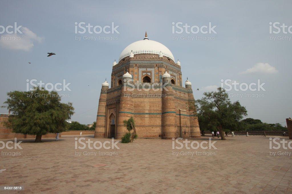 Tomb of Shah Rukn-e-Alam in Multan stock photo