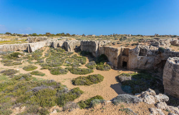 Tomb of the Kings, Paphos, Cyprus stock photo