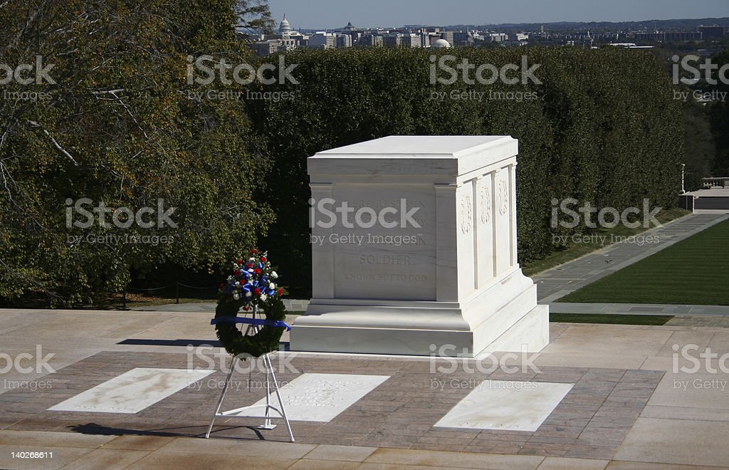 Tomb of the unknown soldier Arlington cemetery royalty-free stock photo