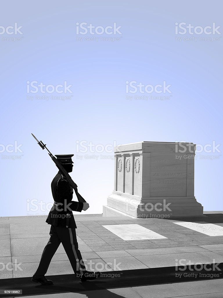 Tomb of the Unknown Soldier, Arlington National Cemetery royalty-free stock photo