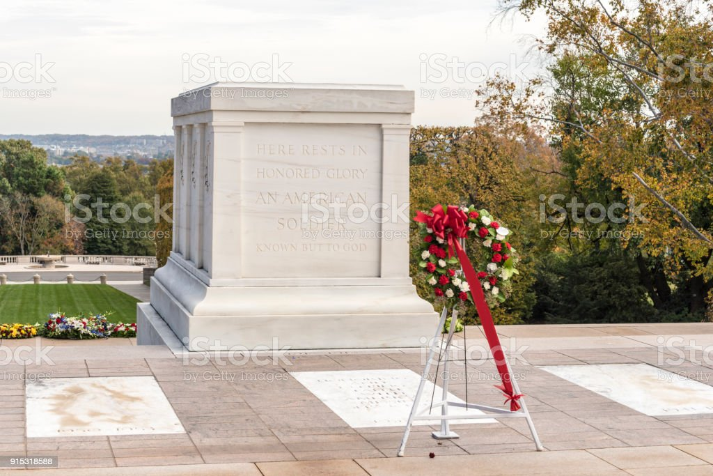 Tomb of the Unknown Soldier, Arlington National Cemetery, Virginia, USA stock photo