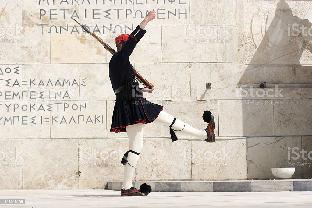 Tomb of the Unknown Soldier, Athens, Greece royalty-free stock photo