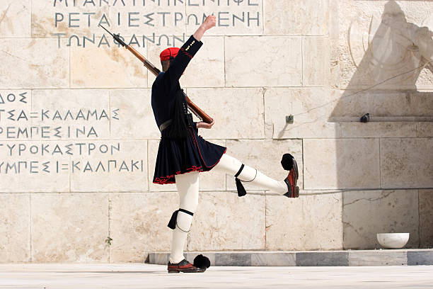 Tomb of the Unknown Soldier, Athens, Greece stock photo