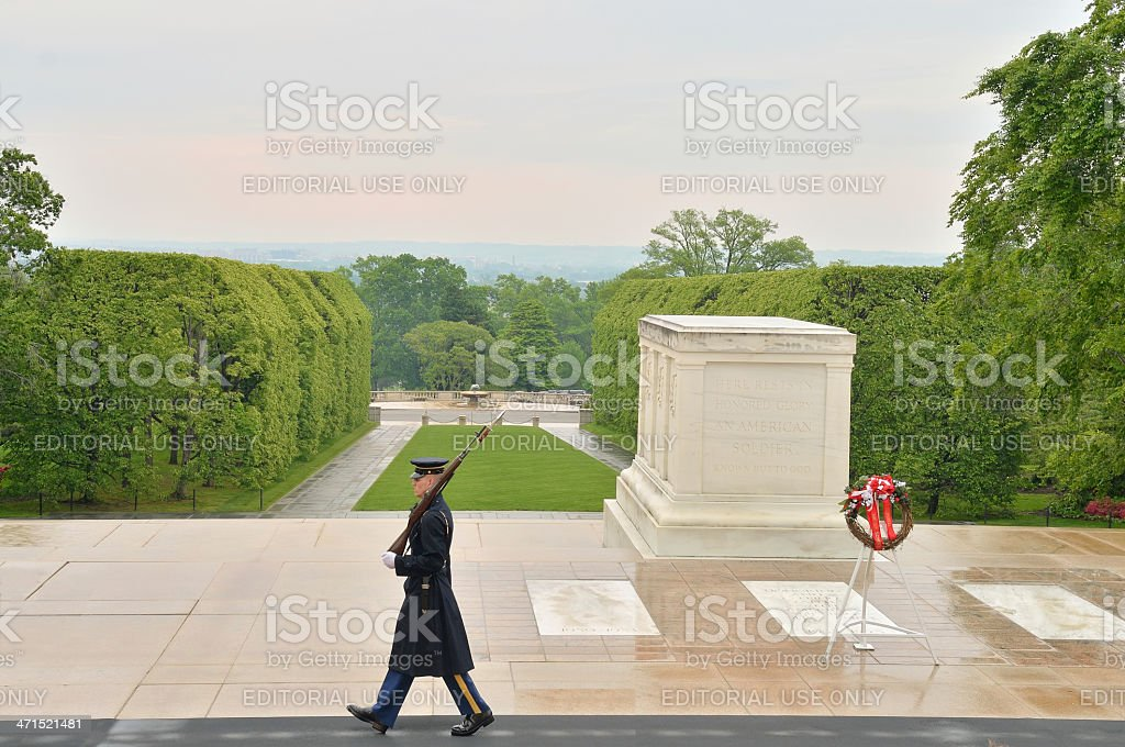 Tomb Of The Unknowns Sentinel royalty-free stock photo