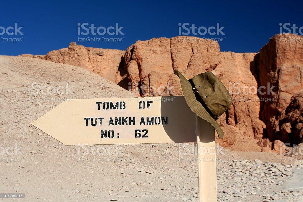 Tomb of Tut This Way stock photo