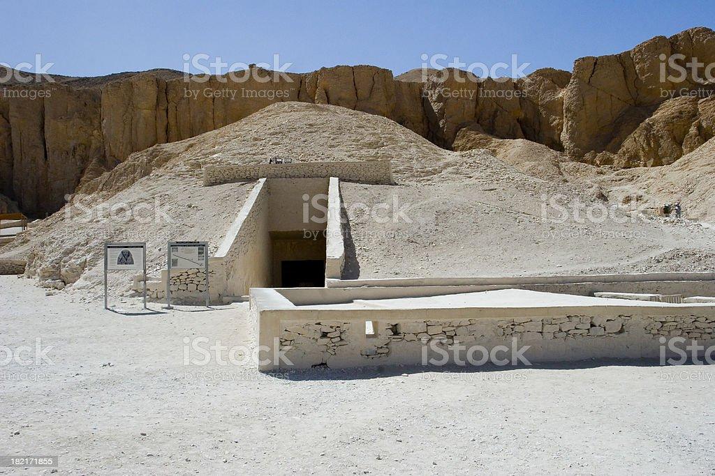 Tomb of Tutankhamun stock photo
