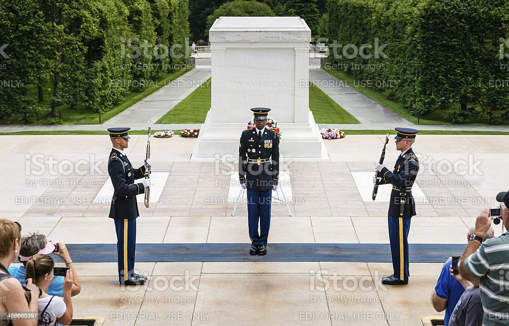 Tomb of Unknown Soldier in Arlington, Virginia, USA royalty-free stock photo