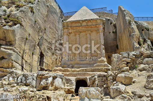Tomb of Zechariah in Jerusalem in Israel