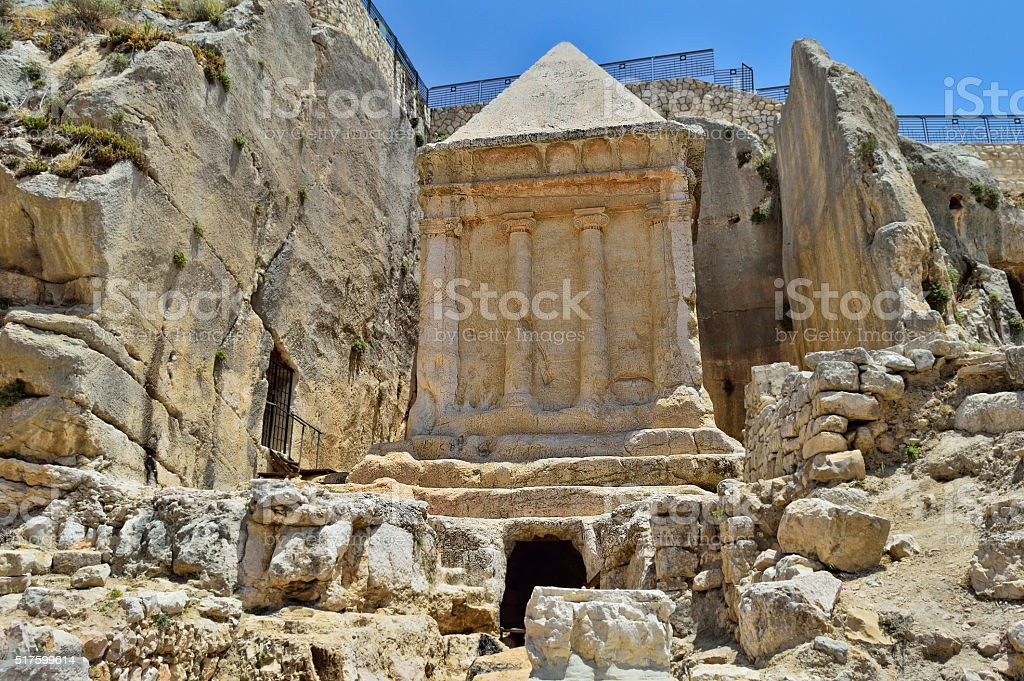 tomb of Zechariah stock photo