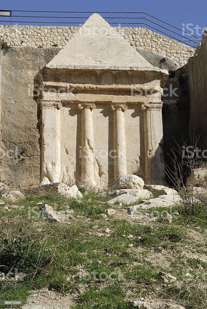 Tomb of Zechariah royalty-free stock photo