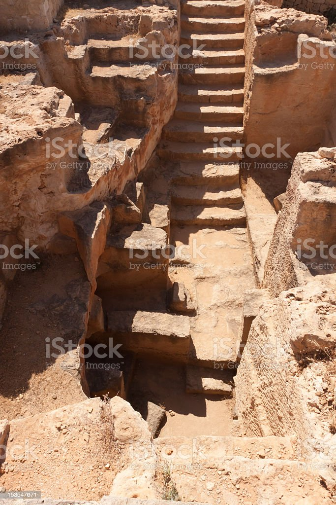 Tomb ruins in Cyprus royalty-free stock photo