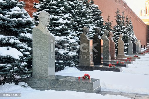 istock Tombs of Stalin and Other Soviet Leaders Covered Snow 1056929870