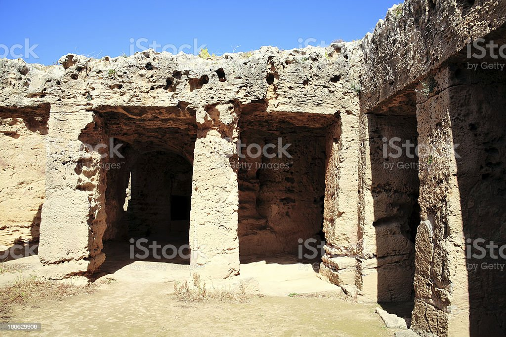 Tombs Of The Kings, Paphos, Cyprus royalty-free stock photo