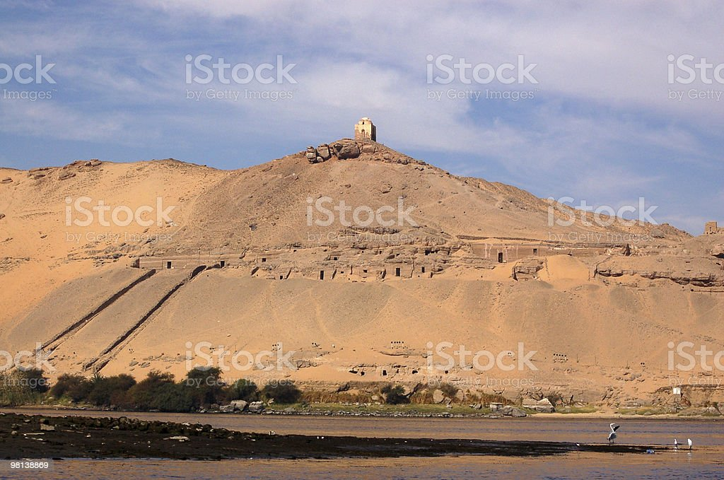 Tombs of the Nobles, Aswan royalty-free stock photo