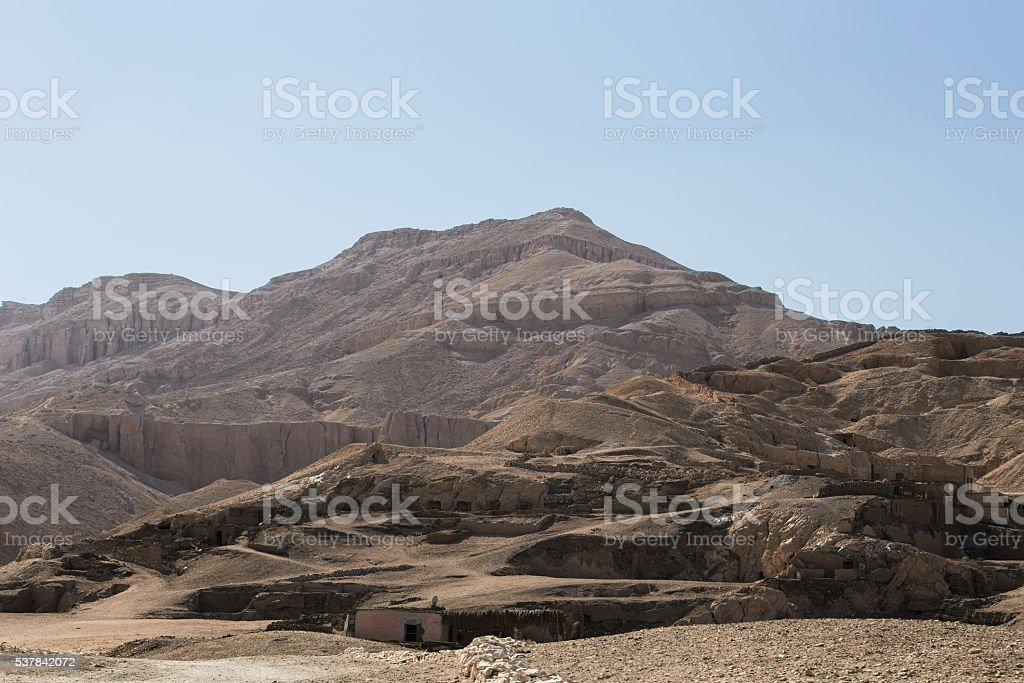 tombs rocks desert stock photo