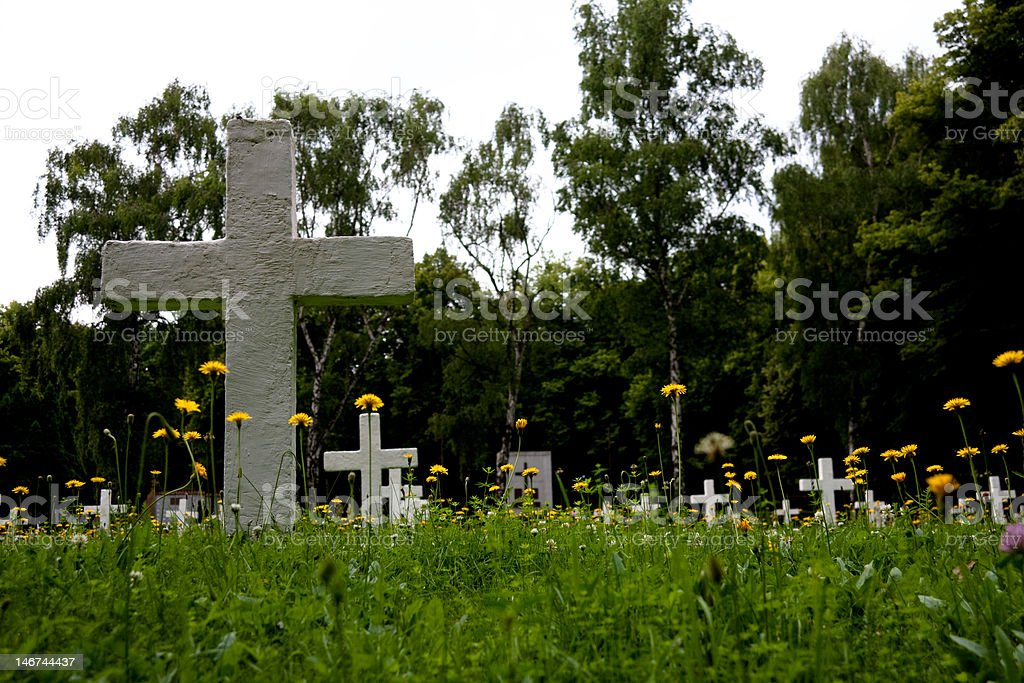 Tombs to soldiers of the First World War in Prague stock photo