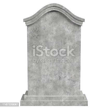 3D rendering illustration of a tombstone nr.3