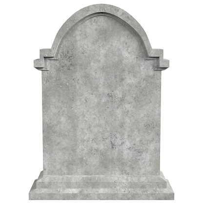 3D rendering illustration of a tombstone nr.4