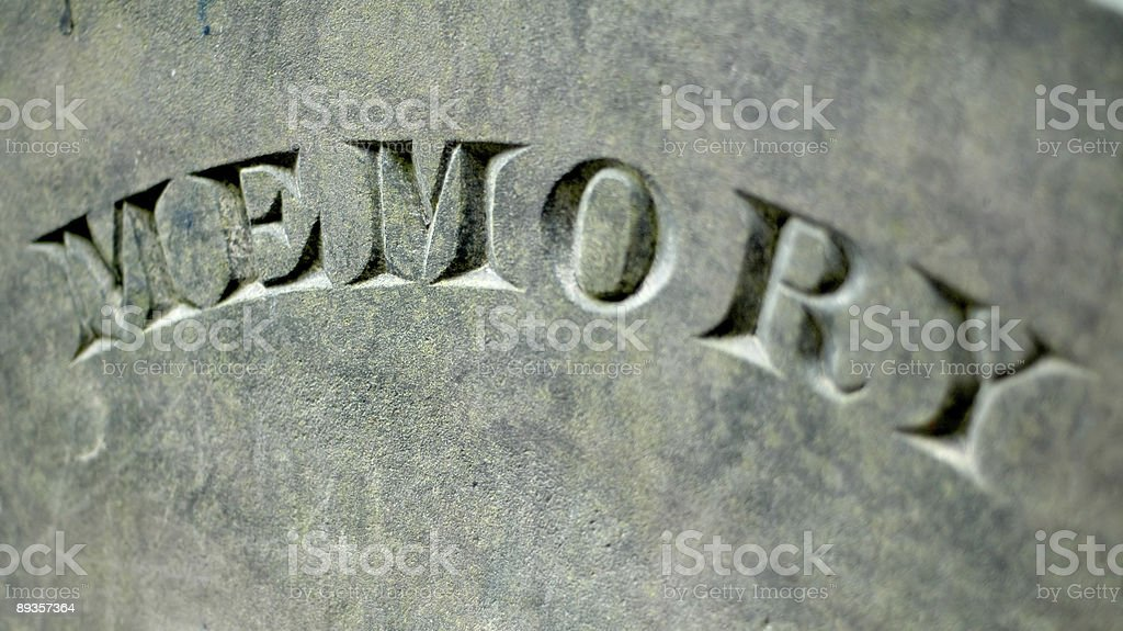Tombstone close-up royaltyfri bildbanksbilder