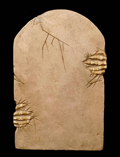 tombstone textfreiraum - halloween grabsteine stock-fotos und bilder