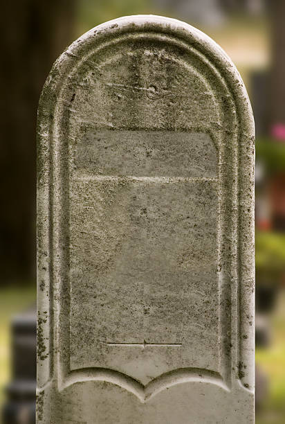 tombstone #2 (w/ clipping path) - crypt stock pictures, royalty-free photos & images