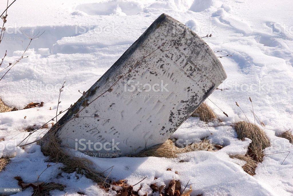 Tombstone royalty-free stock photo