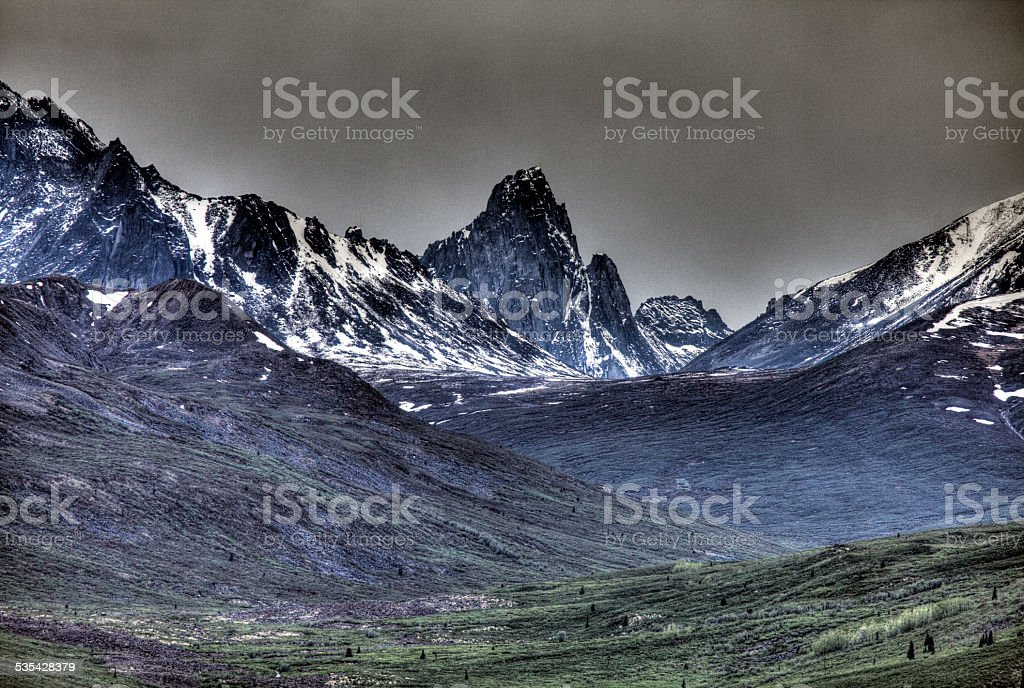 Tombstone Territorial Park, Dempster Highway, Yukon, Canada. stock photo