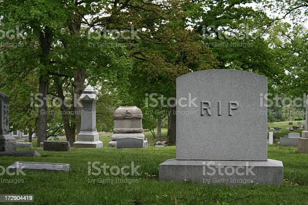 Tombstone With Rip Stock Photo - Download Image Now