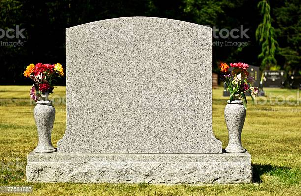 A blank tombstone, waiting for your message