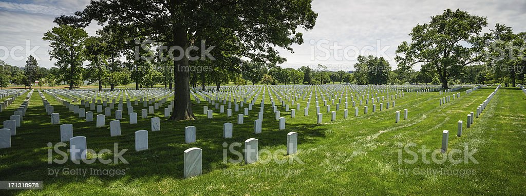Tombstones at Arlington National Cemetery, Virginia, USA royalty-free stock photo