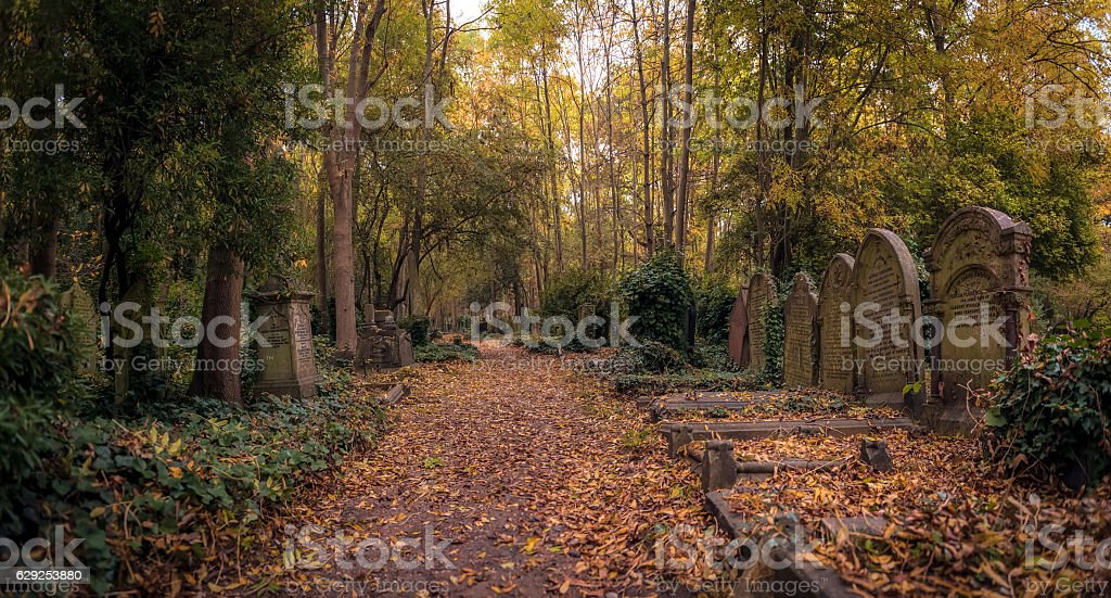 Tombstones of Highgate Cemetery, London royalty-free stock photo