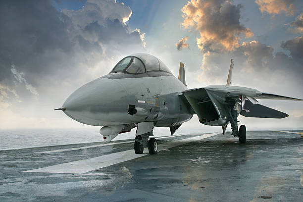F-14 Tomcat fighter jet F-14 Tomcat fighter jet on the deck of an aircraft carrierOthers you may like: fighter plane stock pictures, royalty-free photos & images