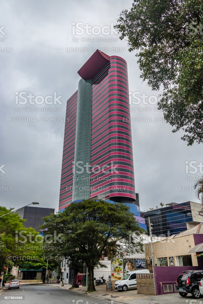 Tomie Ohtake Institute Building - Sao Paulo, Brazil stock photo