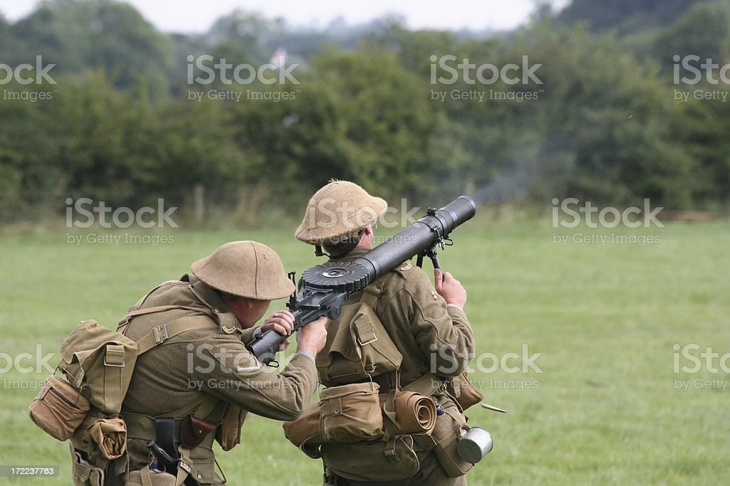WWI Tommies royalty-free stock photo