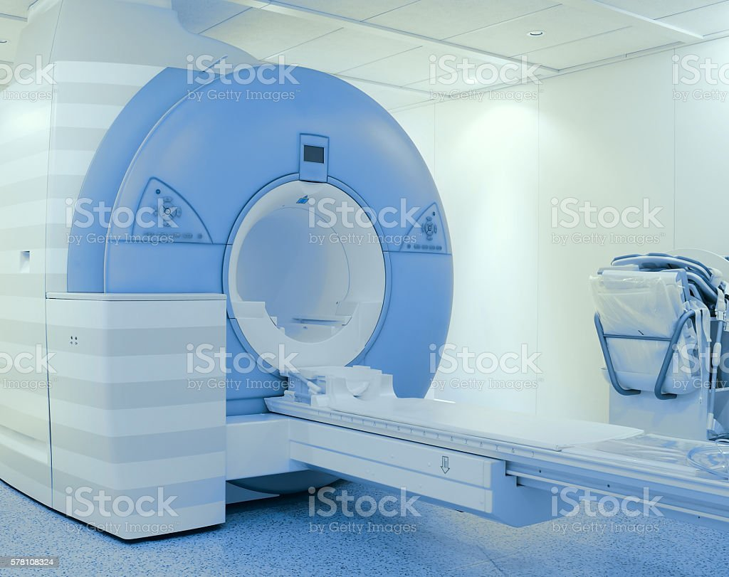 Tomography scanner in hospital stock photo