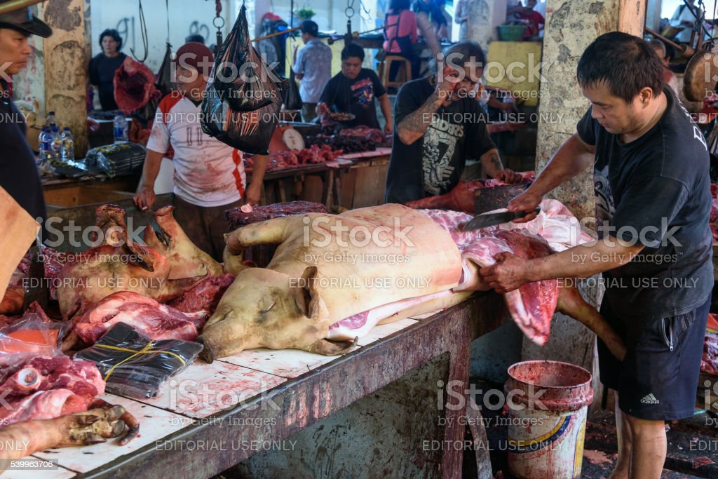 Tomohon Traditional Market stock photo