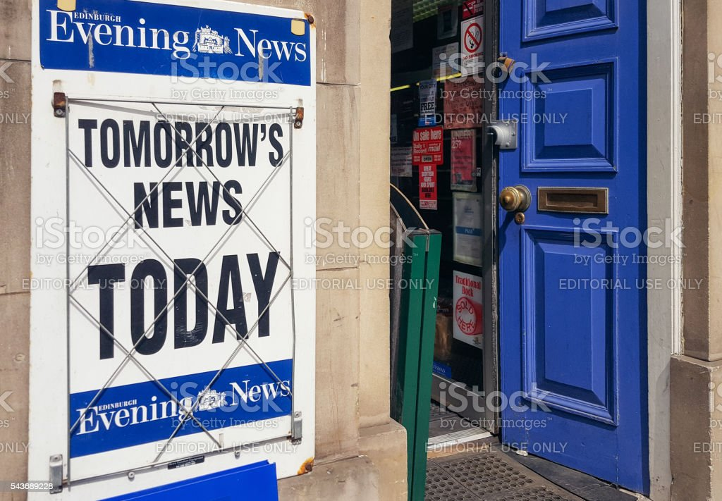 Tomorrow's News Today newspaper banner stock photo