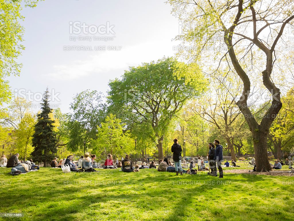 Tompkins Square Park East Village Manhattan stock photo