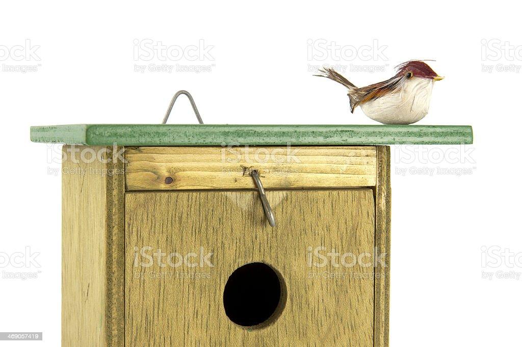 Photo Libre De Droit De Tomtit Sur Le Dessus De La Cabane A Oiseaux Gros Plan Banque D Images Et Plus D Images Libres De Droit De Art Et Artisanat Istock