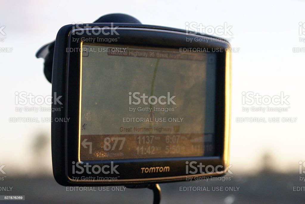 TomTom GPS Navigation stock photo