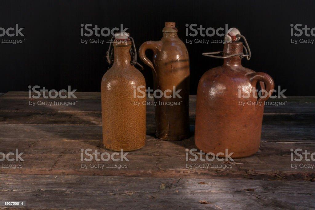 Ton Flaschen stock photo