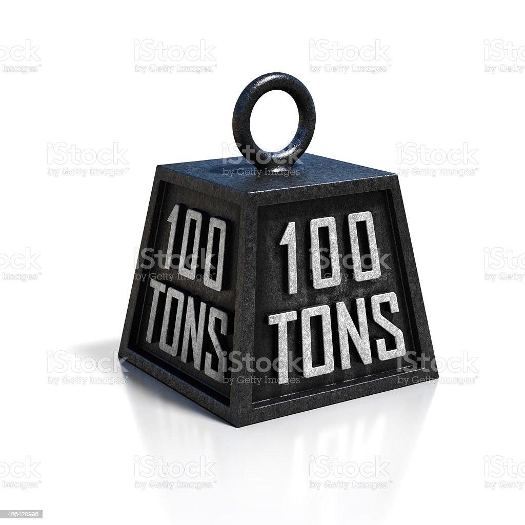100 ton weight stock photo