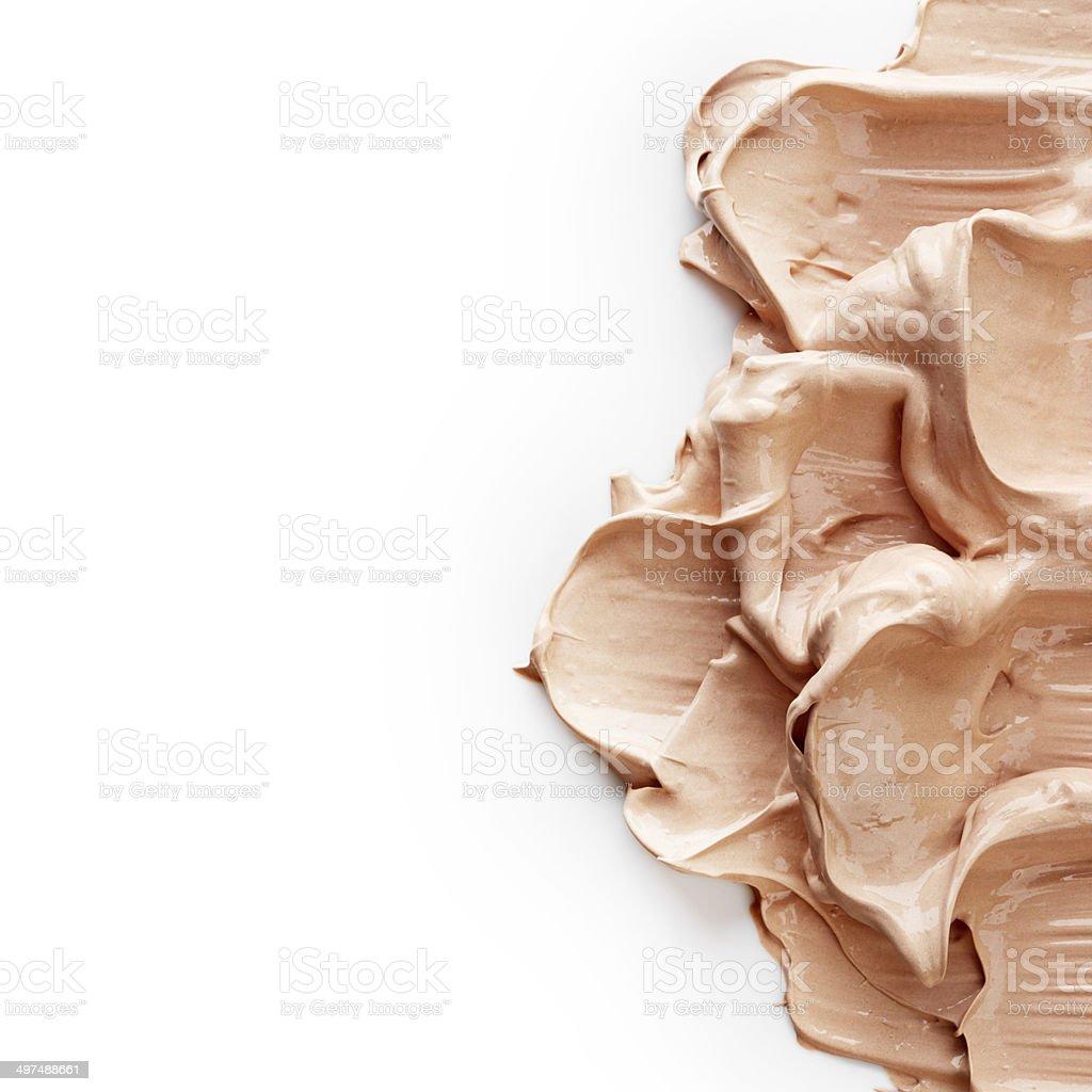 Tone foundation texture stock photo