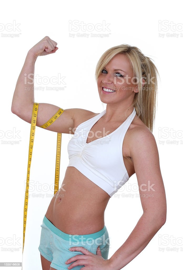 toned arms royalty-free stock photo
