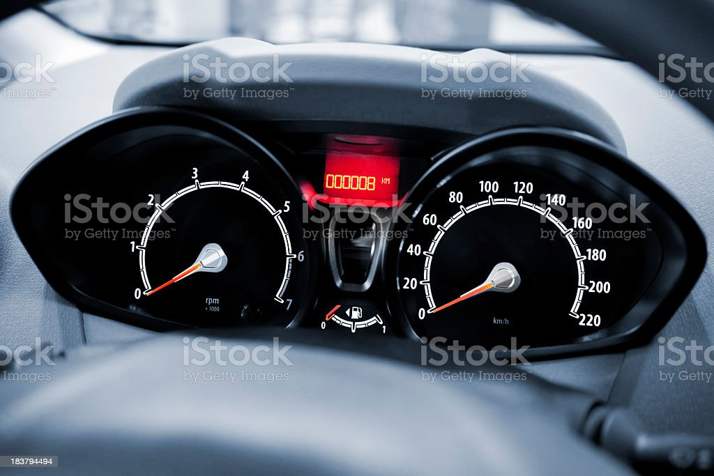 A toned image of a modern car cockpit royalty-free stock photo