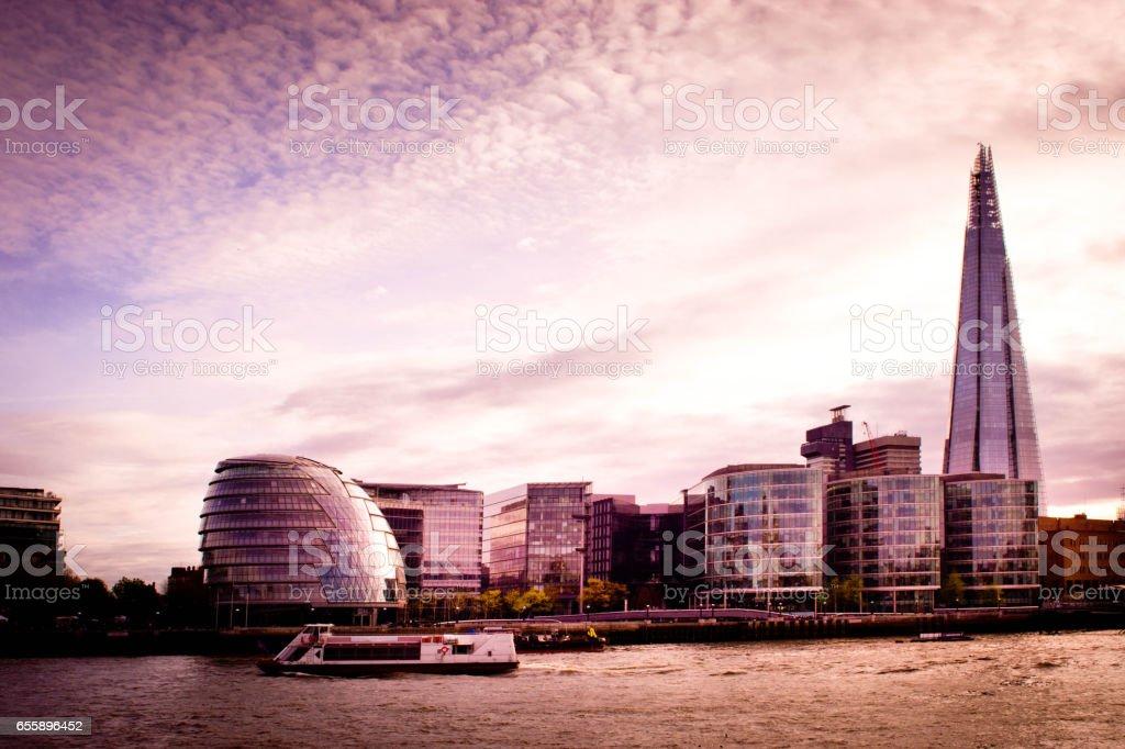 Toned London City Hall stock photo