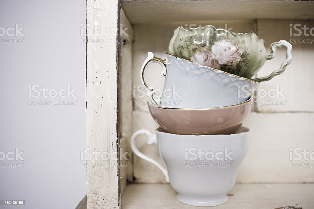 Toned Teacups royalty-free stock photo
