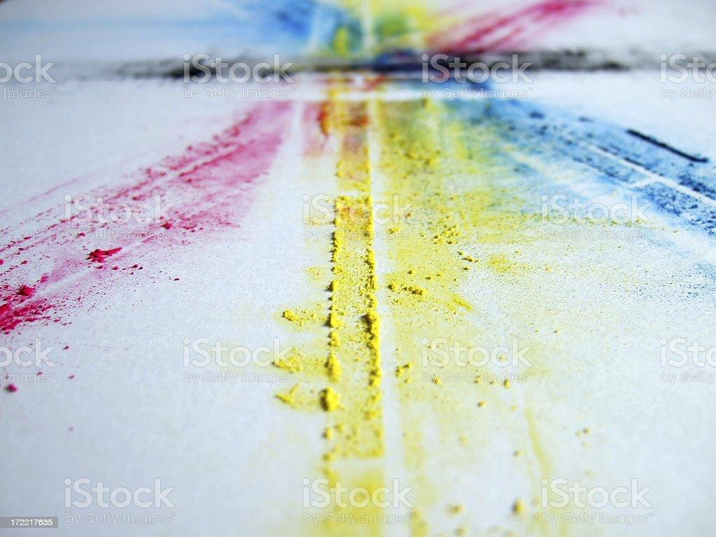 CMYK-toner trace – Foto