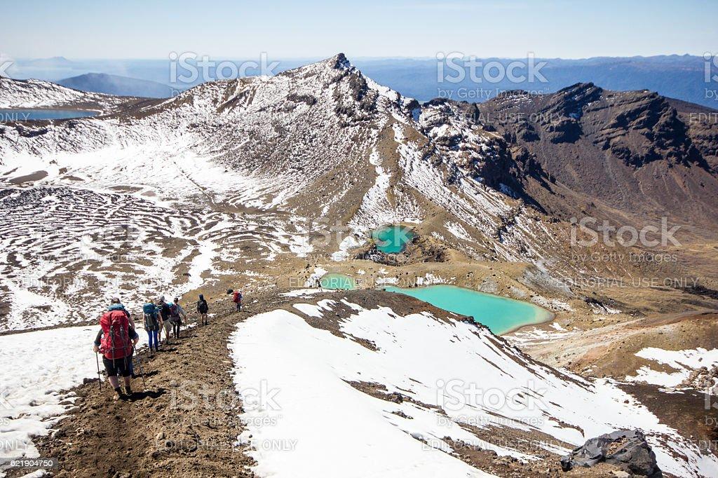 Tongariro Alpine Crossing stock photo