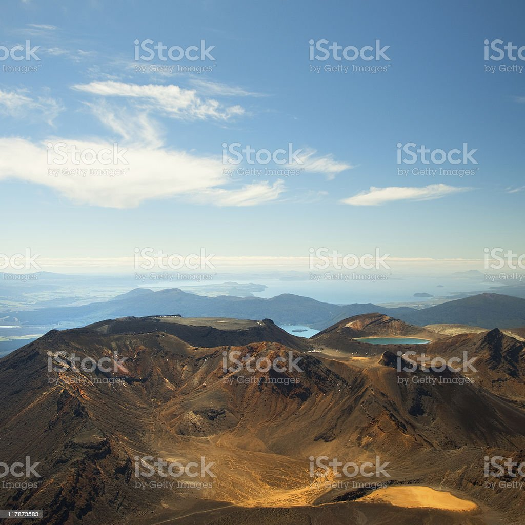 Tongariro mountainous country stock photo